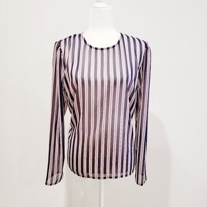 A New Day Long Sleeve Sheer Blouse